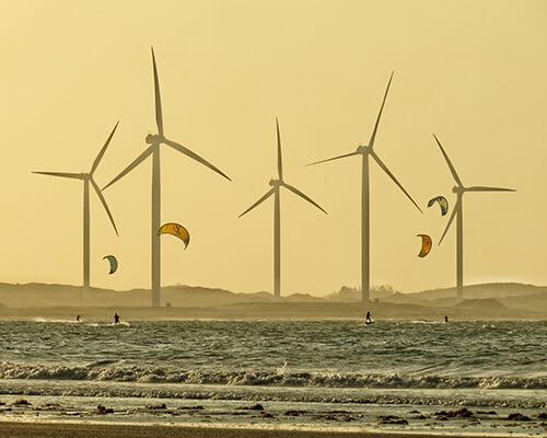 Éoliennes pollution visuelle mer