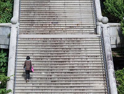 Défi entreprise escalier